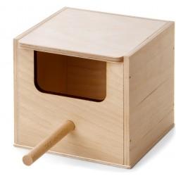 Cuib pasari din lemn 12/11 cm
